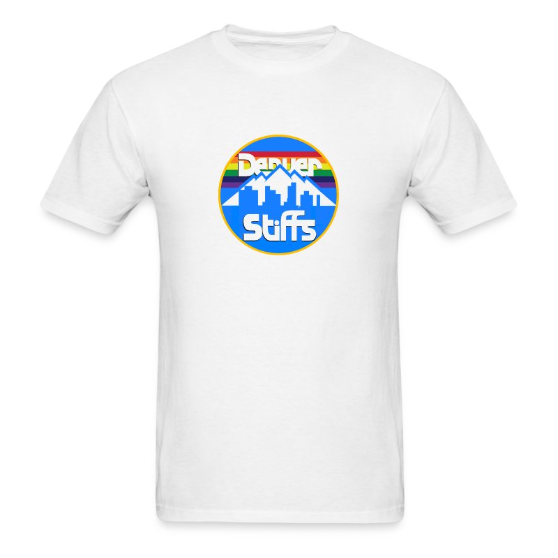 DenverStiffs Round Logo Shirt White - Men's T-Shirt