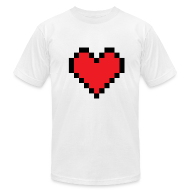 T-Shirts ~ Men's T-Shirt by American Apparel ~ PIxel Heart