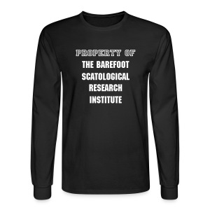 Institute - mens LS std, wht txt - Men's Long Sleeve T-Shirt