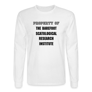 Institute - mens LS std, blk txt - Men's Long Sleeve T-Shirt
