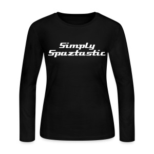 Spaztastic - wht txt, ladies jersey LS - Women's Long Sleeve Jersey T-Shirt
