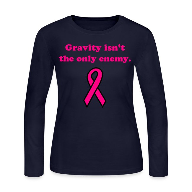 Gravity - ladies LS std, pnk txt