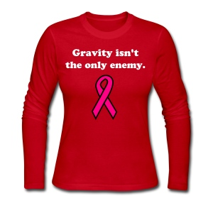 Gravity - ladies LS std, wht txt - Women's Long Sleeve Jersey T-Shirt