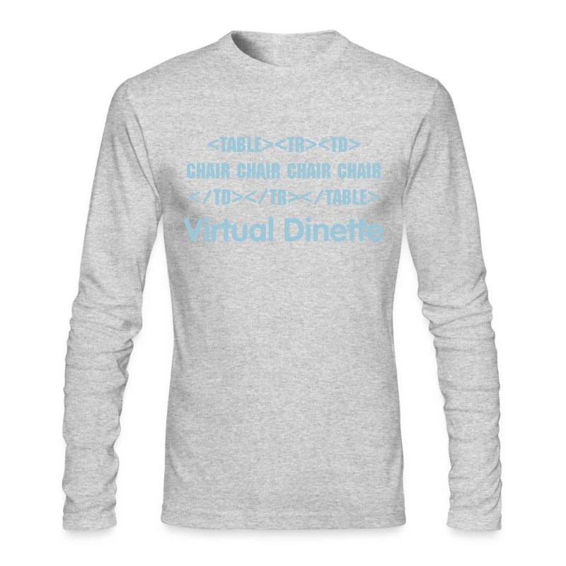 Virtual Dinette - Men's Long Sleeve T-Shirt by Next Level