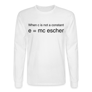 e=mc escher - Men's Long Sleeve T-Shirt