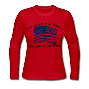 Home of the Free  - Women's Long Sleeve Jersey T-Shirt