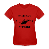 T-Shirts ~ Women's T-Shirt ~ Military Support