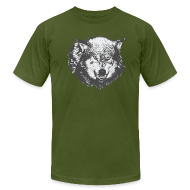 T-Shirts ~ Men's T-Shirt by American Apparel ~ Wolf
