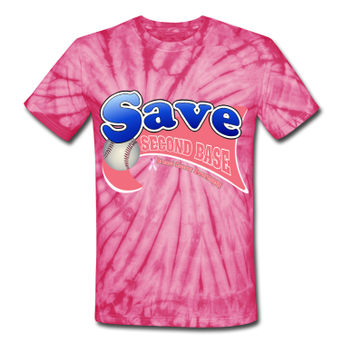 Spider pink Save Second Base Breast Cancer Awareness Ribbon T-Shirts