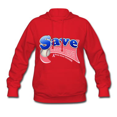 Red Save Second Base Breast Cancer Awareness Ribbon Hoodies