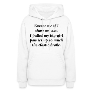 Big Girl Panties Strong blk txt - Women's Hoodie