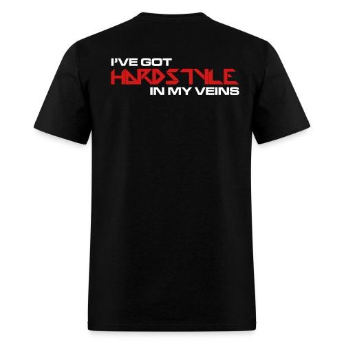 HARDSTYLE VEINS....... (BACK DESIGN) - Men's T-Shirt
