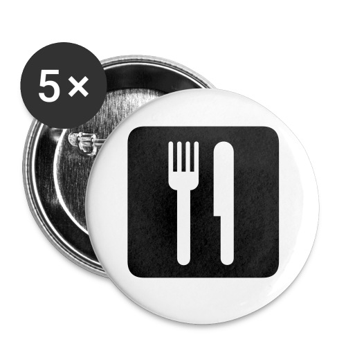 Fork and Knife Buttons - Small Buttons