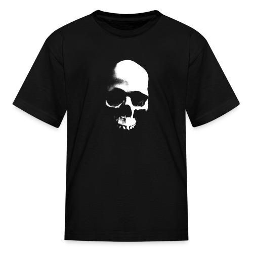 Grunge Skull - Black Tee (Kids) - Kids' T-Shirt