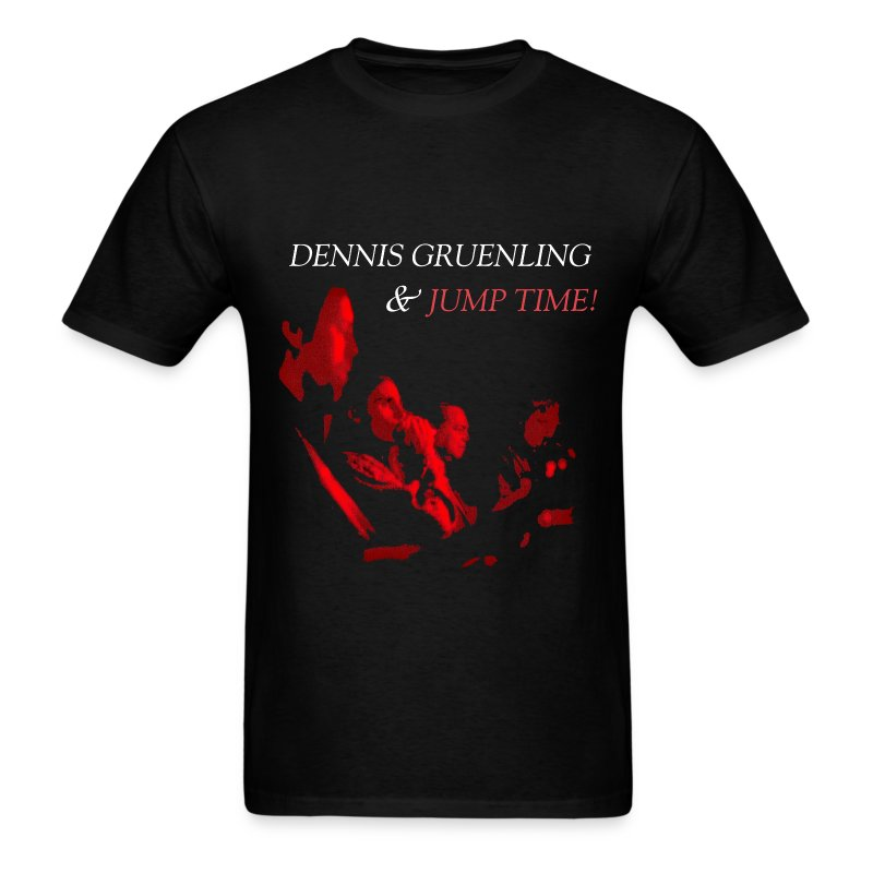 Dennis Gruenling & Jump Time! black t-shirt - Men's T-Shirt