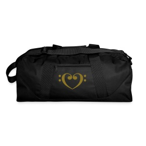 Bass Clef Gold Heart - Duffel Bag