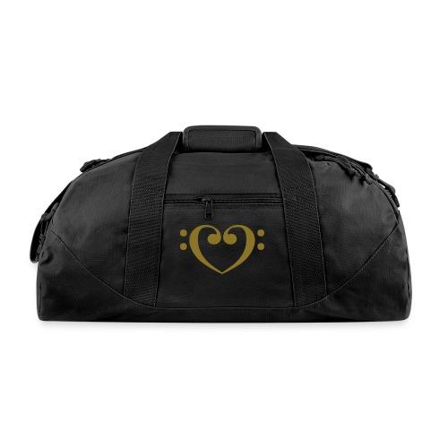 Bass Clef Gold Heart - Duffel Bag