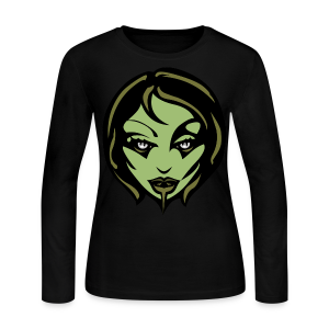 Zombie T-shirt Sexy Zombie Halloween Shirts - Women's Long Sleeve Jersey T-Shirt