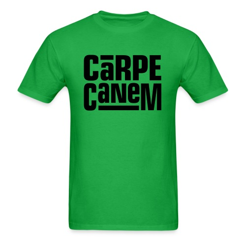 Carpe Canem (Seize the Dog) Dark on Standardweight Shirt - Men's T-Shirt