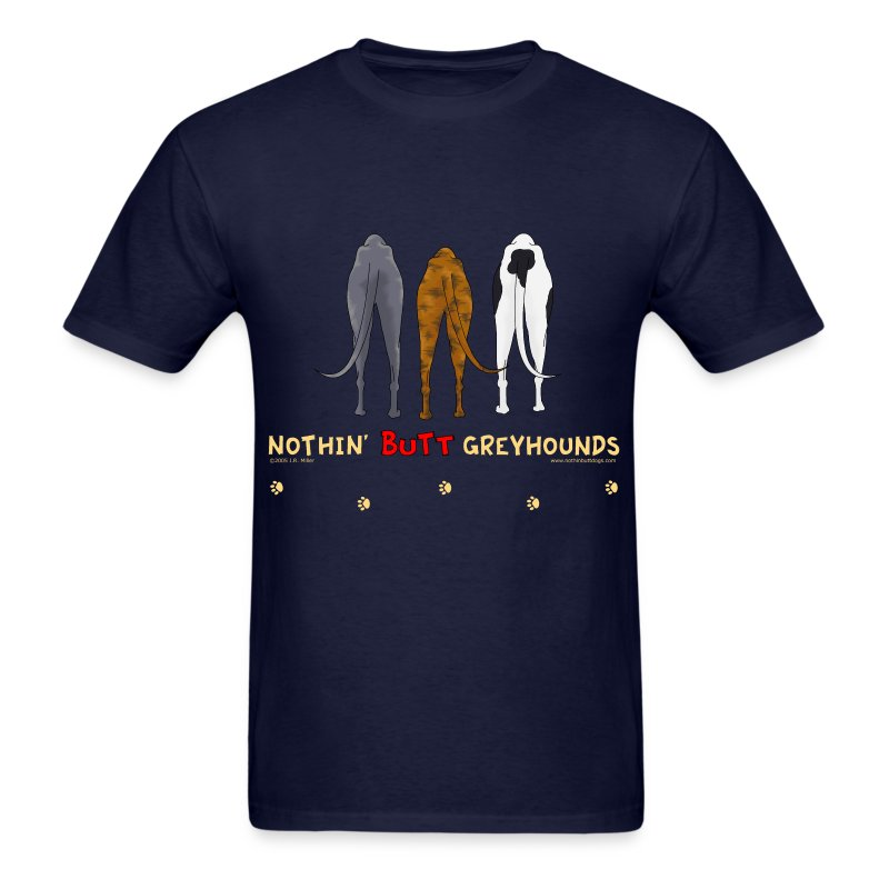 Greyhound T Shirts Rescue Nothin' Butt Greyhound...