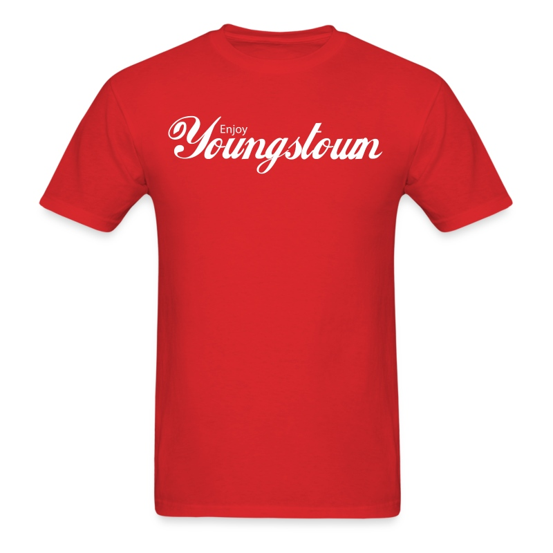 Enjoy Youngstown - White - Men's T-Shirt