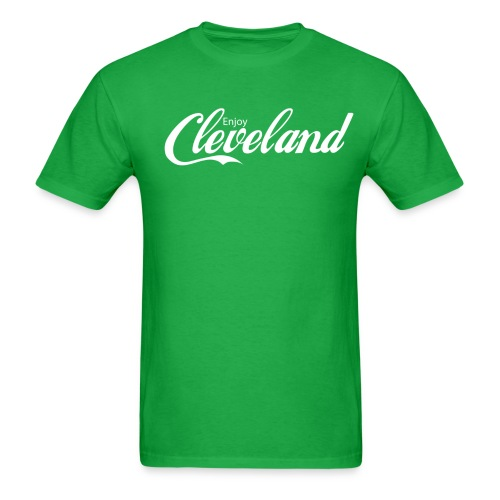 Enjoy Cleveland - White - Men's T-Shirt