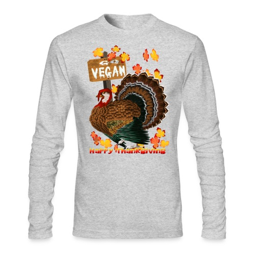 Go Vegan!! Thanksgiving - Men's Long Sleeve T-Shirt by Next Level