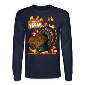 Go Vegan!! Thanksgiving - Men's Long Sleeve T-Shirt