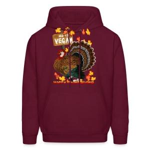Go Vegan!! Thanksgiving - Men's Hoodie