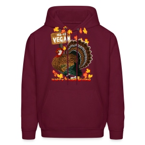 Go Vegan!! Thanksgiving - Men's Hoodie