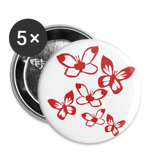 Red Hot Butterfly Love Button Set - Small Buttons