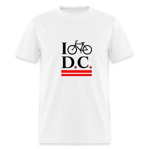 I Bike DC - Flag - Men's T-Shirt