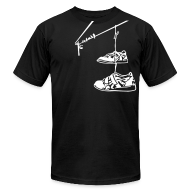T-Shirts ~ Men's T-Shirt by American Apparel ~ Lifting Shoes Hanging