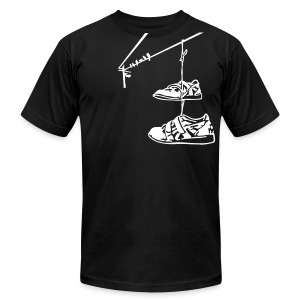 Lifting Shoes Hanging - Men's T-Shirt by American Apparel