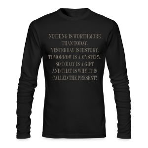 The present - Men's Long Sleeve T-Shirt by Next Level