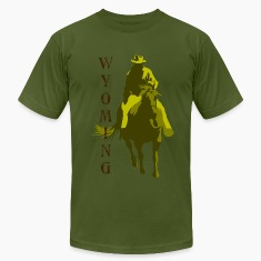 Olive Wyoming T-Shirts