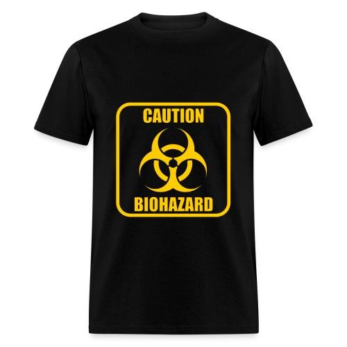 Caution Biohazard Black T-Shirt - Men's T-Shirt