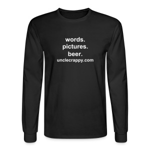 words. pictures. beer. - Men's Long Sleeve T-Shirt