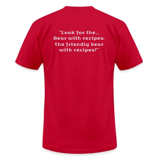 Bear with recipes (undated) - Men's Fine Jersey T-Shirt