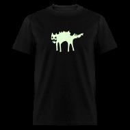 T-Shirts ~ Men's T-Shirt ~ EVIL KITTY (GLOW IN THE DARK)