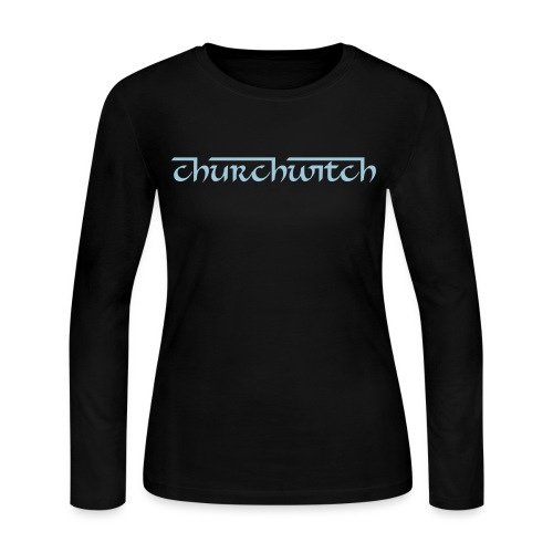 Churchwitch Women's American Apparel Slim Fit Tee - Women's Long Sleeve Jersey T-Shirt