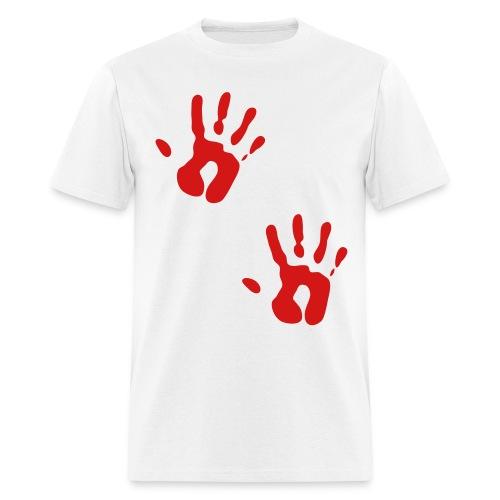 Bloody Hand Print T shirt - Men's T-Shirt