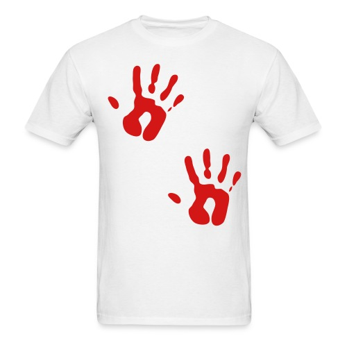 Bloody Hand Print T shirt - Men's T-Shirt