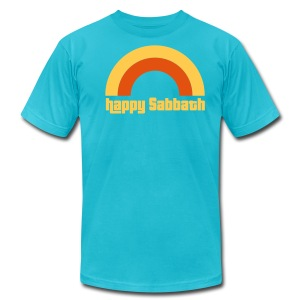 Happy Sabbath 2 Color B Mens - Men's T-Shirt by American Apparel