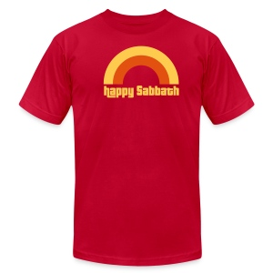 Happy Sabbath 2 A Color Mens - Men's T-Shirt by American Apparel