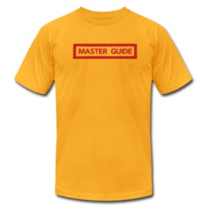 Master Guide FLOCK PRINT Mens - Men's T-Shirt by American Apparel