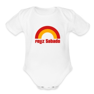 Feliz Sabado 2 Color B Baby    - Short Sleeve Baby Bodysuit