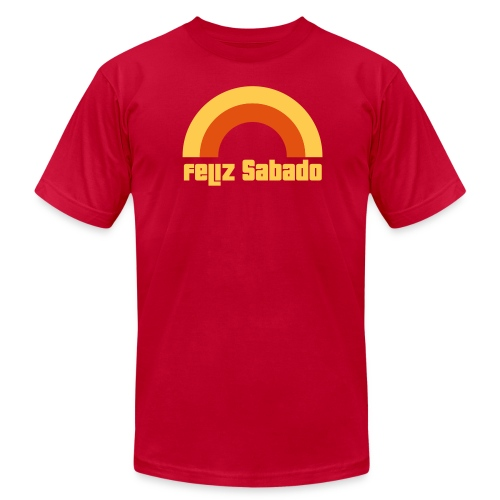 Feliz Sabado 2 Color Mens - Men's T-Shirt by American Apparel