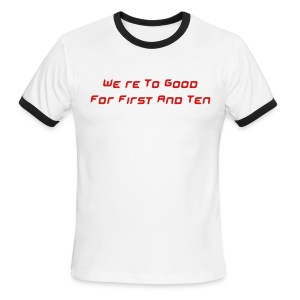 Men's Ringer T-Shirt - For the six man football fan!