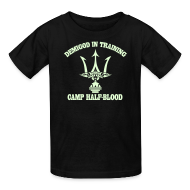 Kids' Shirts ~ Kids' T-Shirt ~ GLOW IN THE DARK DEMIGOD T-Shirt - Trident - Halloween Limited Edition
